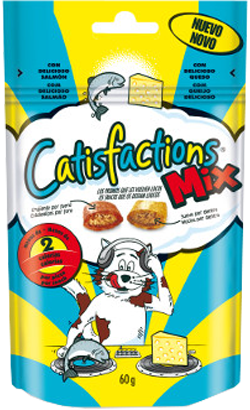 Catisfaction Snack Mix Queijo & Salmão 6 x 65 g