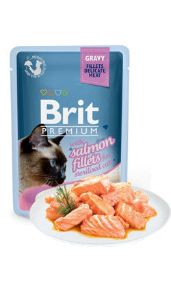Brit Blue Cat Delicate Fillets in Gravy Salmon Sterilised - 6x85 g