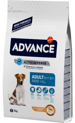 Advance Dog Mini Adult Chicken & Rice 3 Kg