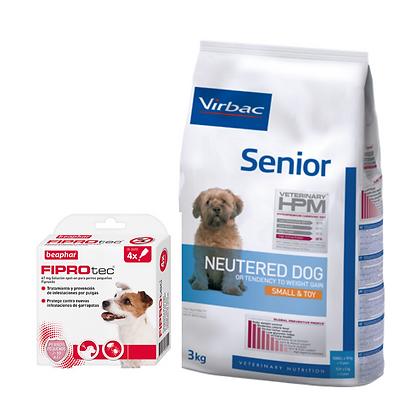 Virbac HPM Senior Neutered S&T 7 kg + Beaphar Fiprotec Spot On Cão Pequeno 2-10