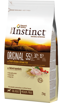 True Instinct Dog Adult Original Medium-Maxi Chicken & Brown Rice 600 g