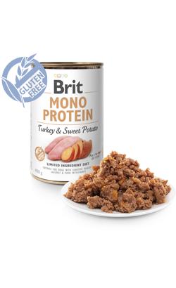 Brit Care Dog Mono Protein Turkey & Sweet Potato (Lata) 6 x 400 g