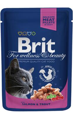 Brit Blue Cat Wet - Salmon & Trout - 6 x 100 g
