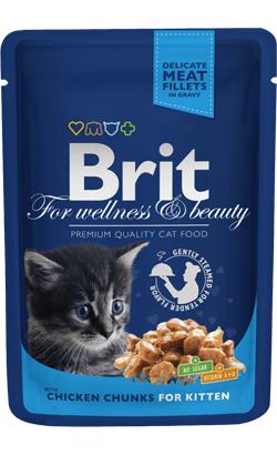 Brit Blue Cat Kitten Wet - Chicken Chunks - 6 x 100 g
