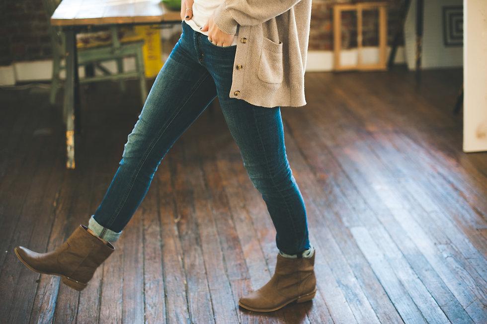 Pantalones vaqueros y botas