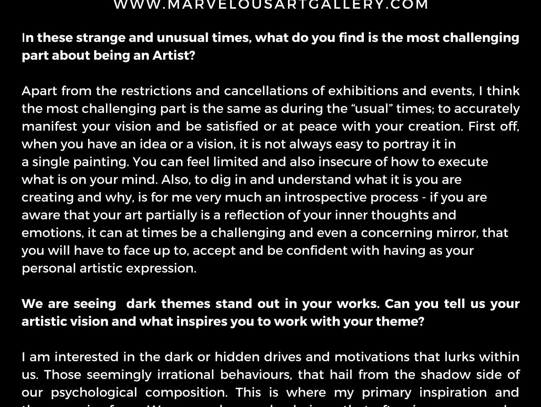 Marvelous Art Magazine October 2020 Issu
