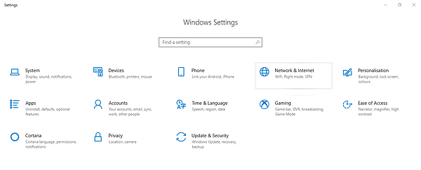 Windows 10 Settings screen