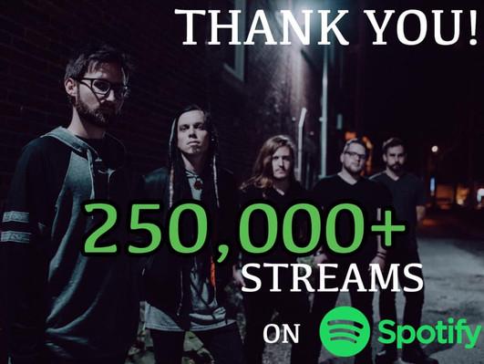 250,000 Streams on Spotify
