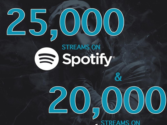 45,000+ on Spotify and Apple Music!