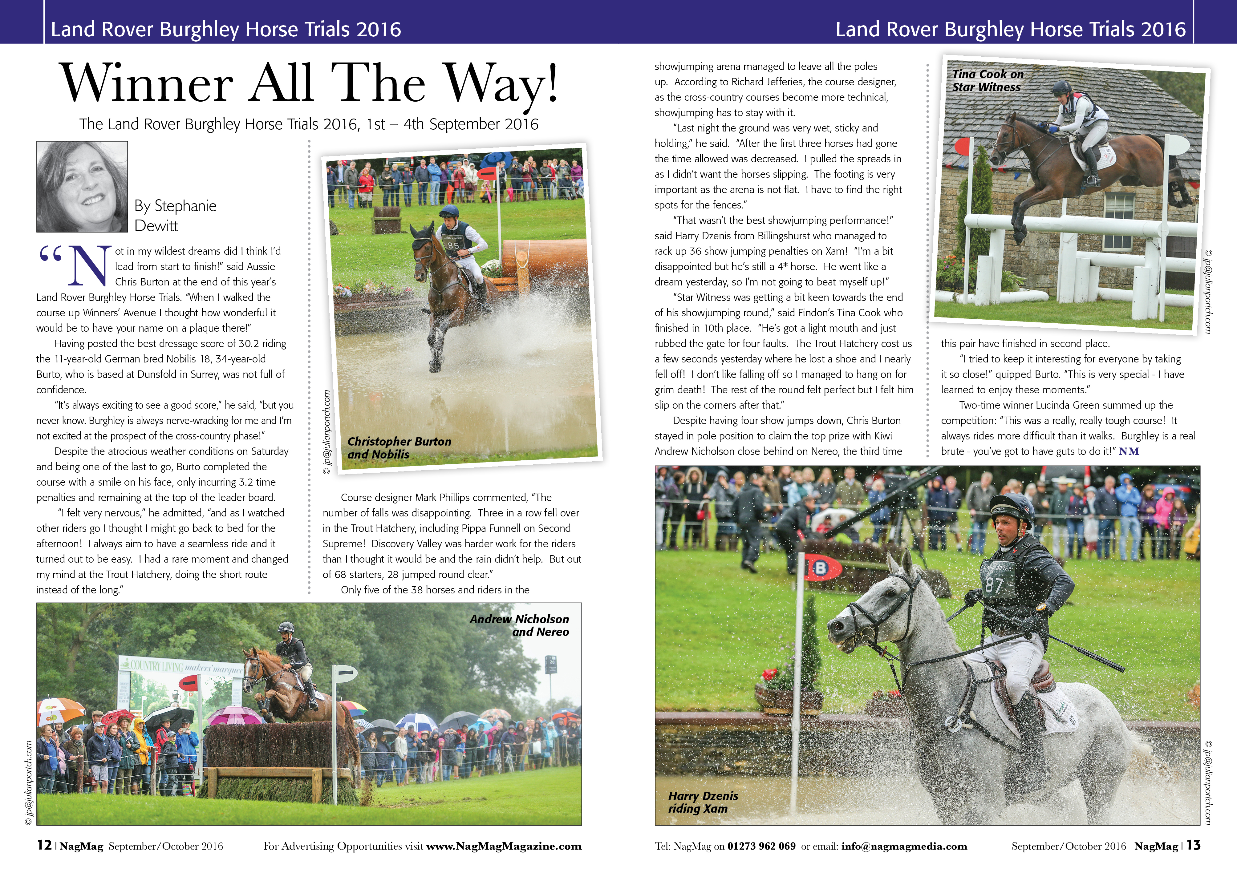 NagMag September 16 Burghley Spread for Julian