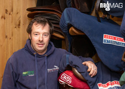 Robert Whitaker in his Tack Room