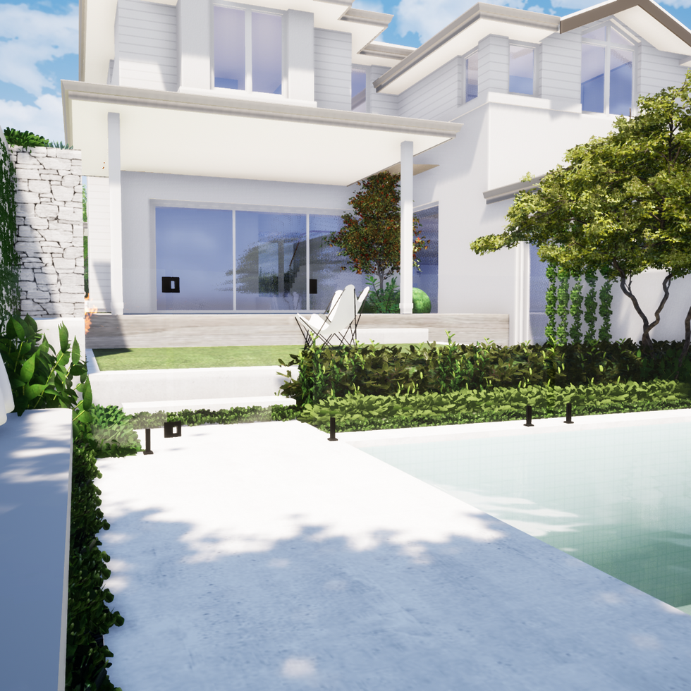 Pool Seating and Fireplace tristanpeirce Perth