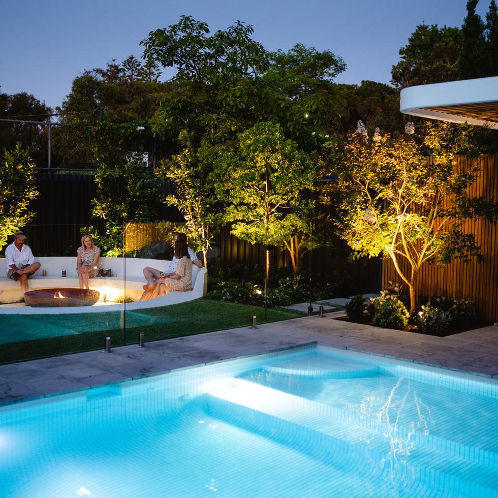 Structure Alfresco White Tiled Pool