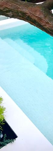 White Tiled Pool Raised Pool Perth Marmion Perth tristanpeirce Landscape Architecture Pool and Garden Design Ardross Perth Australia