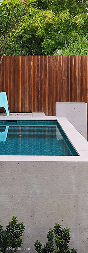 Raised Plunge Pool Raised Pool Perth Marmion Perth tristanpeirce Landscape Architecture Pool and Garden Design
