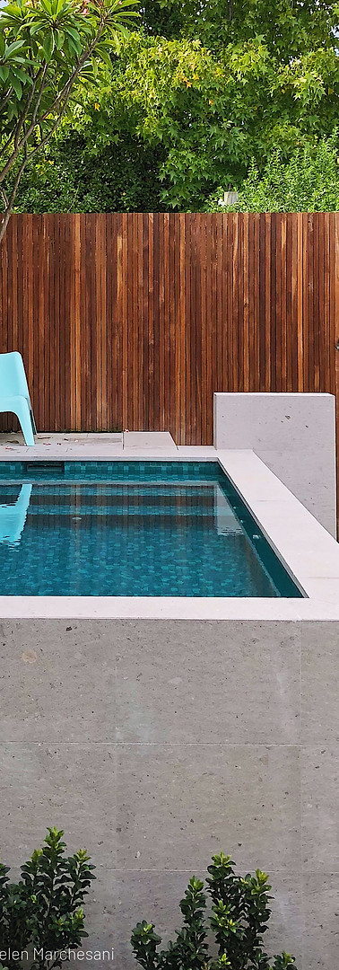 Raised Plunge Pool Raised Pool Perth Marmion Perth tristanpeirce Landscape Architecture Pool and Garden Design