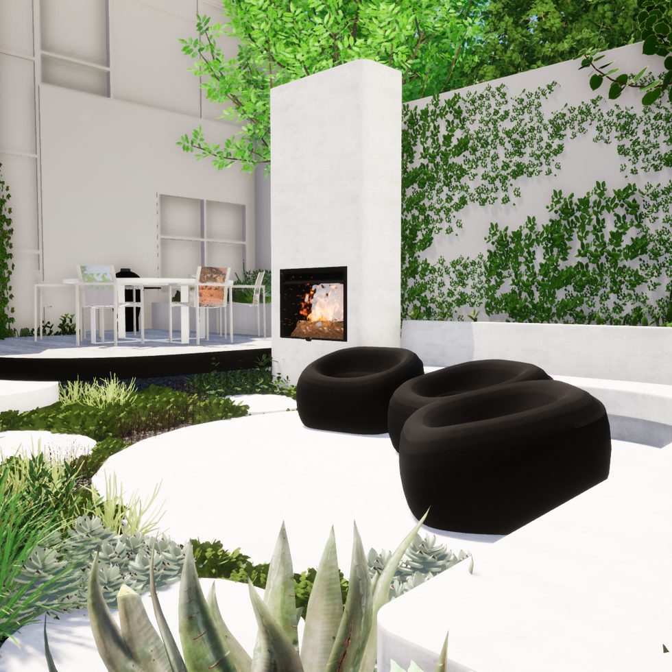 Cottesloe Landscaping Outdoor Fireplace