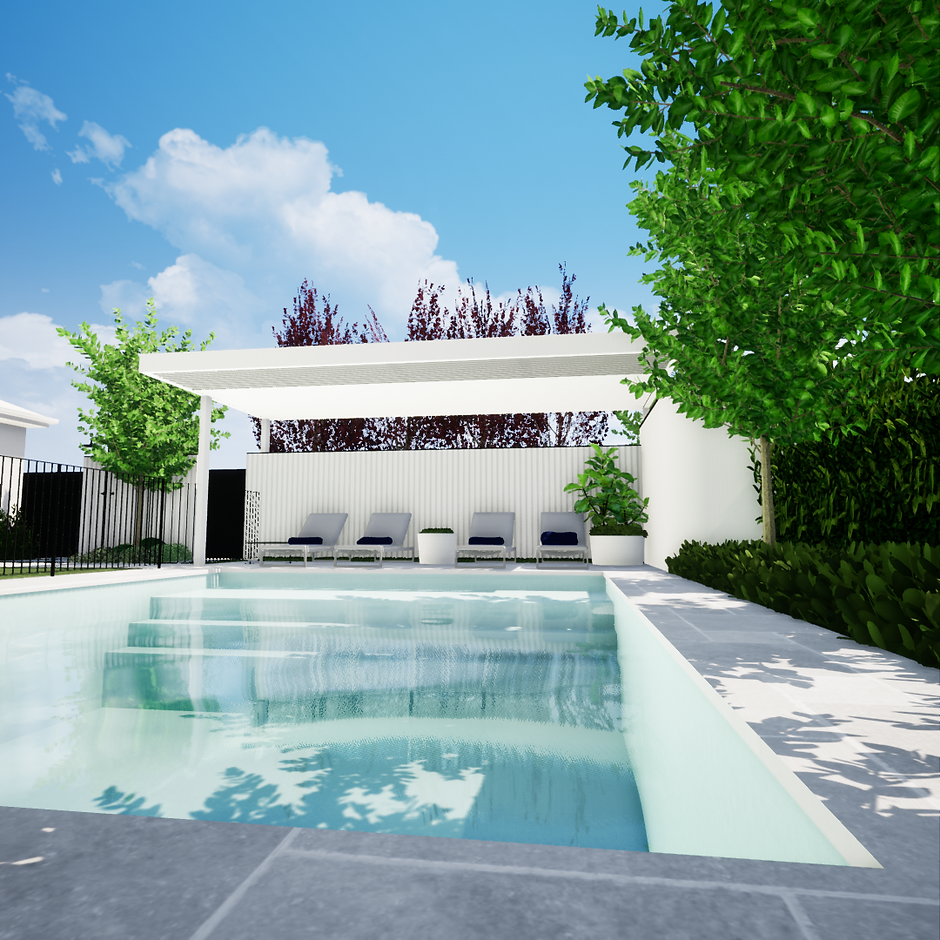 Bicton Pool landscaping design tristanpeirce landscape architecture pool and garden design perth
