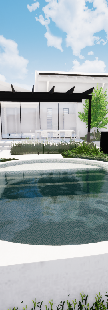 Raised pool and landscaping design tristanpeirce Landscape Architecture Bicton Perth Australia