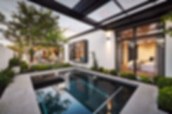 Pool and landscaping design with Webb Br