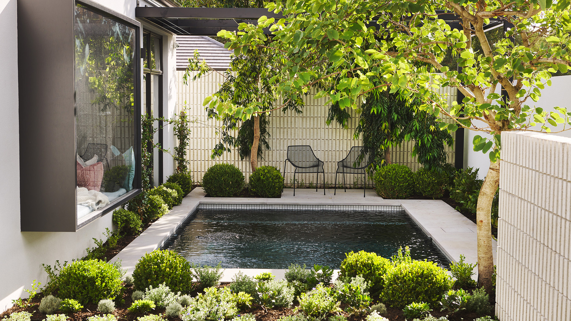 Pool and landscaping design with Webb Brown Neaves