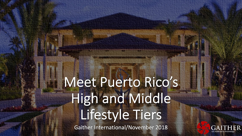 Meet Puerto Rico's High and Medium Lifestyle Tier - Nov 2018