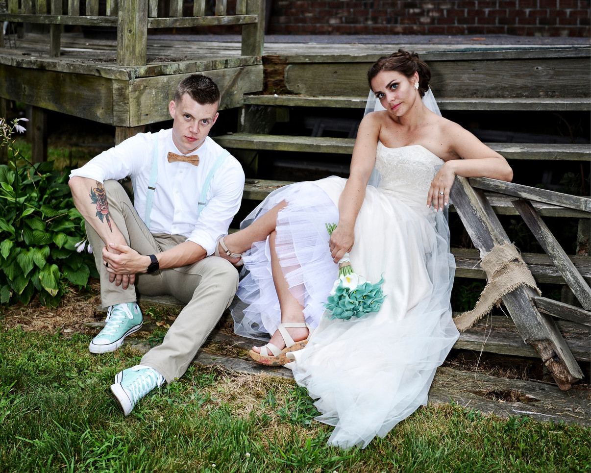 Nicole & Brian Wedding - 8259 steps vint
