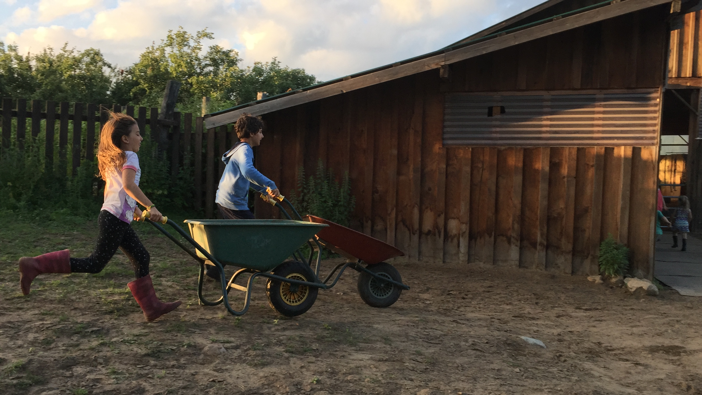 good old fashion fun on the farm