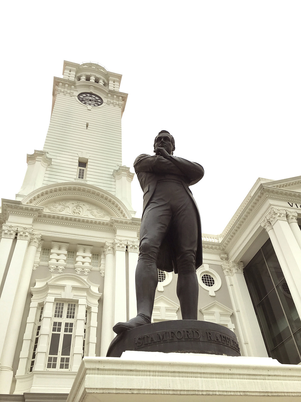 Stamford Raffles at the Victoria Theatre, Singapore