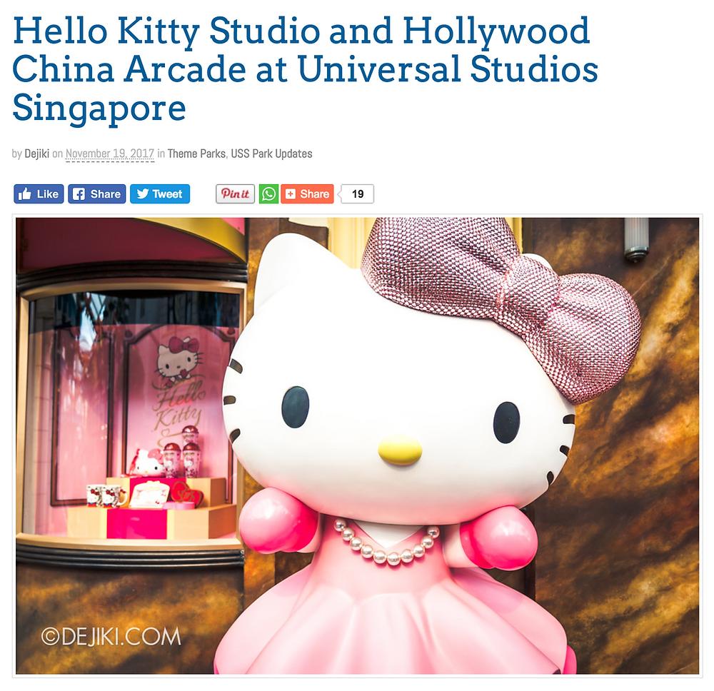 Hello Kitty Studio Store opens at Universal Studios Singapore
