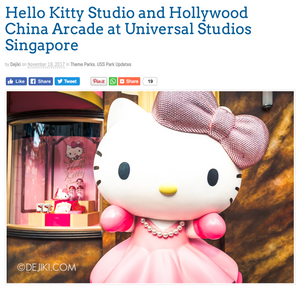Welcome Hello Kitty to Universal Studios Singapore
