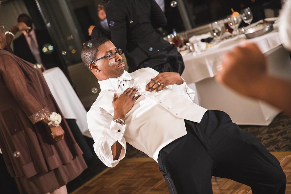 The groom dances like a pro
