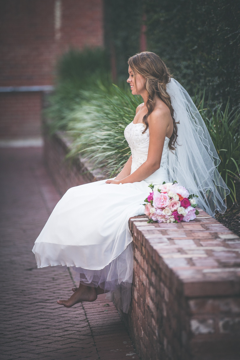 Bridal portraits at 701 Whaley