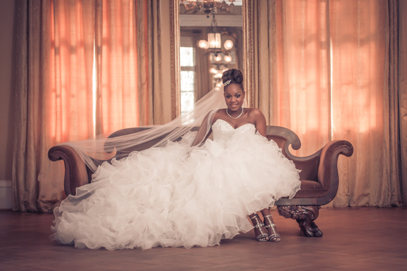 Bridal Portraits in Lace House