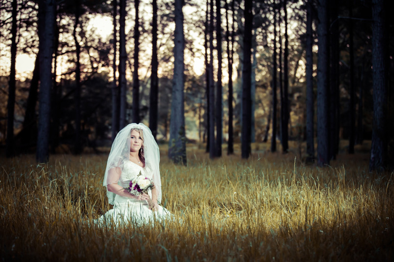 Bridal Portraits in Field Columbia, SC Wedding Photographer