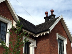 Tiled roof and Chimney work.
