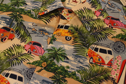 Camper Van Hawaiian Short Sleeved Shirt