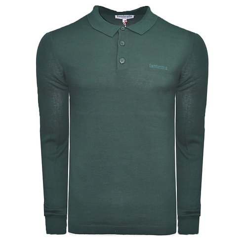 Lambretta L/S Knit Polo - Green
