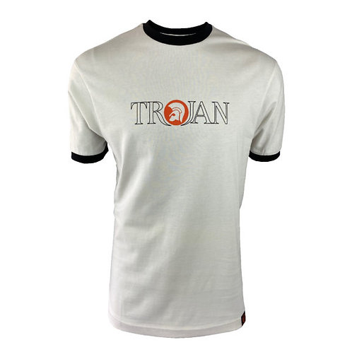 Trojan Outline Logo Tee - 8623 Ecru