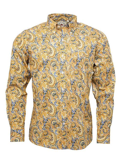 Relco London Mustard Paisley shirt - PS 20