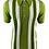 Thumbnail: Ska & Soul Stripe Fine Gauge Spearpoint – 2401 Green