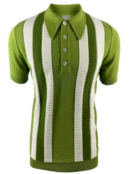 Ska & Soul Stripe Fine Gauge Spearpoint – 2401 Green