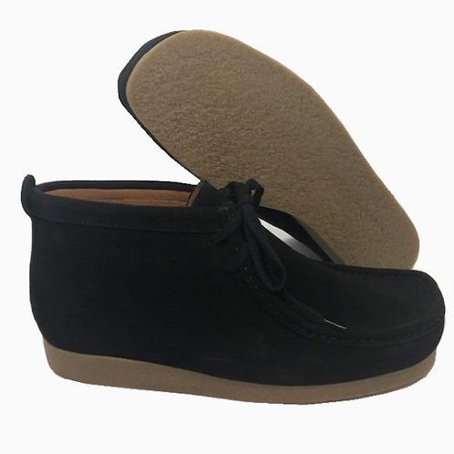 Delicious Junction Wallabee Suede Boot - Black