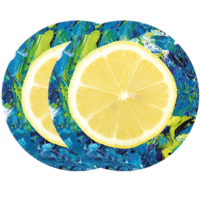 lemon and paint