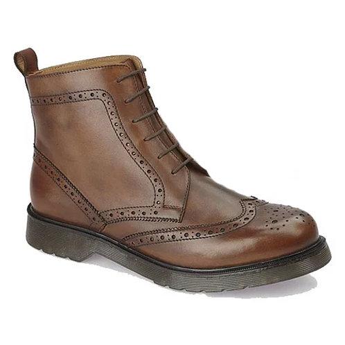 Grafters Brogue Boots - Tan