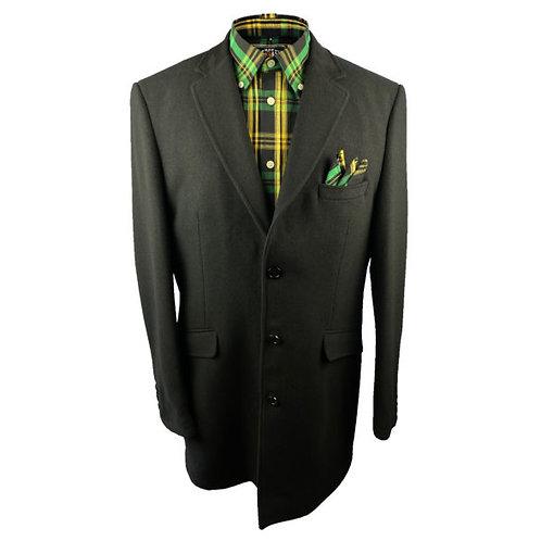 Trojan Crombie-Style Coat 8550 Black
