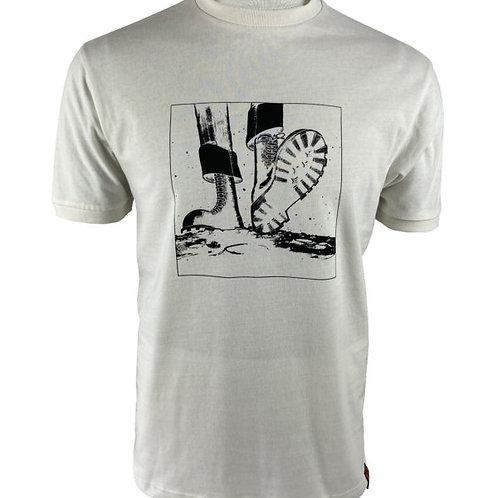 Trojan Skinhead Moonstomp T Shirt - 8521 Ecru
