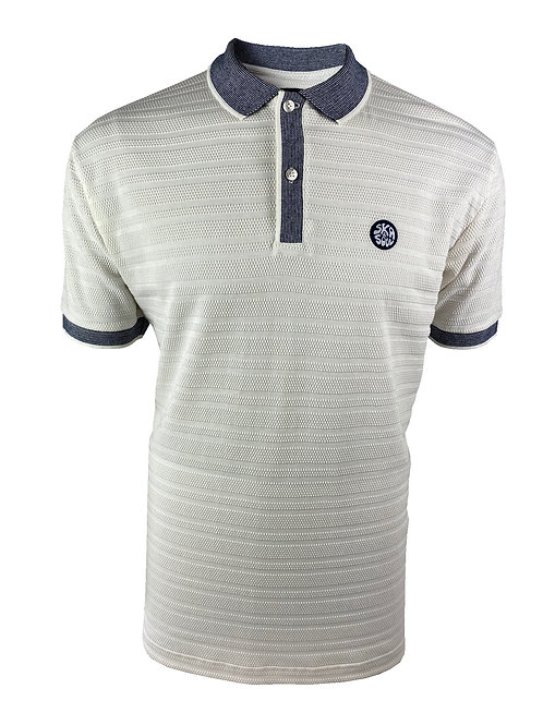 Ska & Soul Self Stripe Polo 2363 Ecru