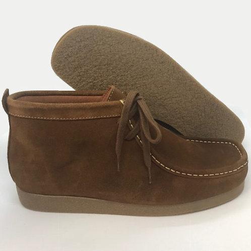 Delicious Junction Wallabee Suede Boot - Brown