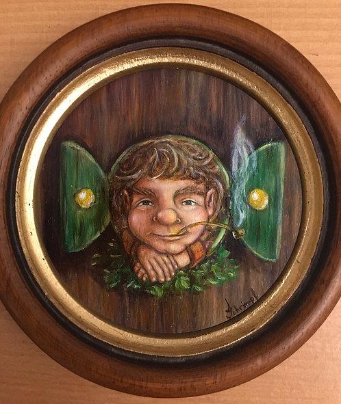"Original oil painting ""Hobbit hole"""